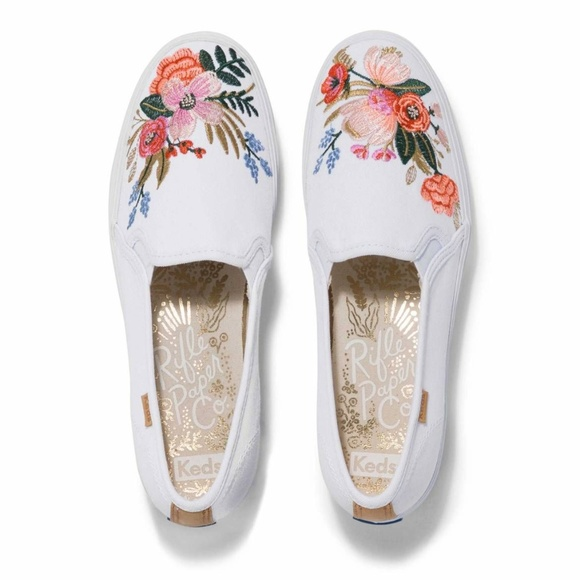 0d7aff973317 Keds Shoes - Rifle Paper Co. Keds Embroidered Lively Slip On